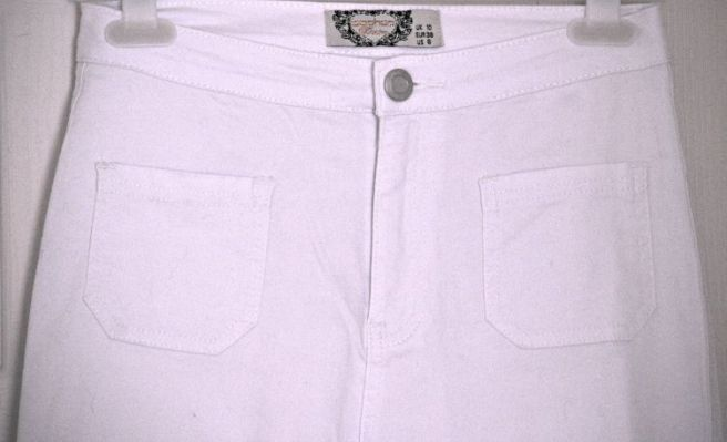 LARA PATCH POCKET TUBE JEANS