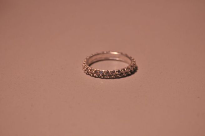 STERLING SILVER BLING ENCRUSTED BAND RING 3